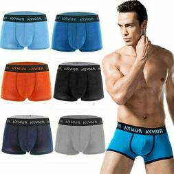 1-6 Pack Mens Soft Boxer Briefs Underwear Bulge Pouch Shorts