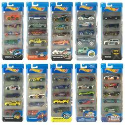 HOT WHEELS 1:64 SCALE 5 PACK COLLECTIBLE VEHICLE GIFT SET TO
