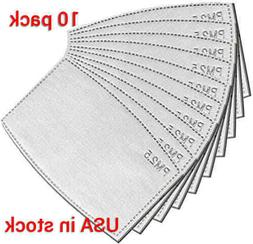 10 pack adult PM2.5 5 Layer Carbon Fresh Air Filter Replacem