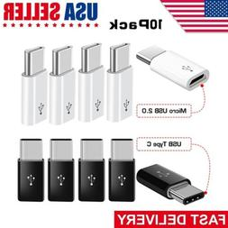 10 Pack Micro USB to Type C Adapter Converter Micro-B to USB