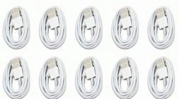 10 PACK USB Data Charging Charger Cables Cord For Apple iPho