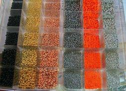 100 TUNGSTEN beads>5 packs of 20 beads>11 colors/5 sizes ava
