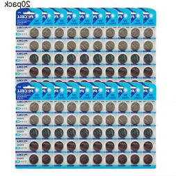 100pc CR2032 5004LC DL ECR BR 2032 3V Button Coin Cell Lithi