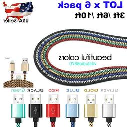 3M/10FT Data Sync Fast Charging Charger Cable Cord For iPhon