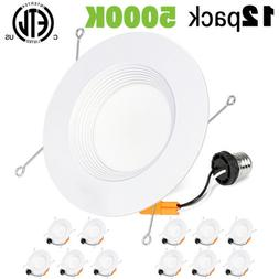 """Hykolity 12 Pack 5/6"""" LED Recessed Downlight Baffle Trim Can"""