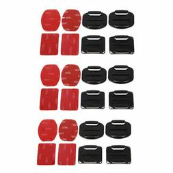 12Pack Helmet Accessories Flat Curved Adhesive Mount For Gop