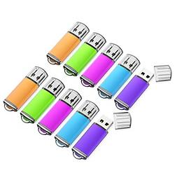 16GB USB Flash Drive 10 Pack with Easy-Storage Bag Memory St