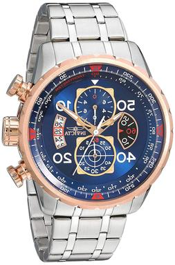 Invicta 17203 Men's Aviator Chronograph 18k Rose Gold Ion Pl