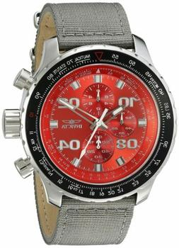 Invicta 18780SYB Men's Ltd Ed. Aviator Chrono Grey Nylon Red