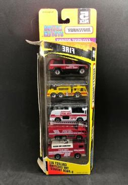 Matchbox 1997 Fire 5 Pack Gift Set Trucks Engines Reacue Rar