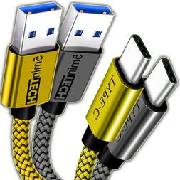 2 pack usb nylon braided cord cable