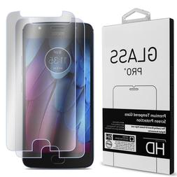 2 Pack of CoverON for Motorola Moto G5S Tempered Glass Clear