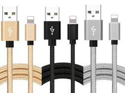 2 Pack 10Ft Lightning Cable Heavy Duty Charger Charging Cord