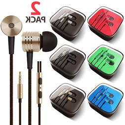 2-PACK 3.5mm Earbuds Earphones Headphones Headsets for iPhon