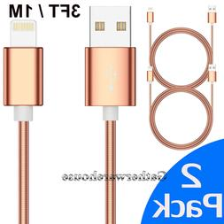 2 Pack 3 Ft Lightning Cable For iPhone X 8 7 6 5 USB Chargin