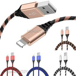 2 Pack Long Cable Heavy Duty Charger Charging for iphone 8 7