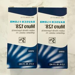 2-Pack - Bausch + Lomb MURO 128 Ophthalmic Solution 5% - 0.5