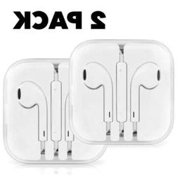 2 PACK Apple Earphones Headphones iPhone 5 5s 6 6s EarPods E