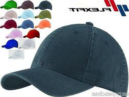 2 PACK Flexfit Garment Washed Fitted Baseball Hat Blank Plai