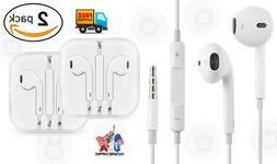 2 Pack Lot Generic New Earphones for iPhone 6 6S 5 5S 4 4S S