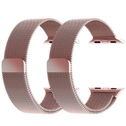 2 Pack Milanese Band For Apple Watch Series Magnetic Stainle