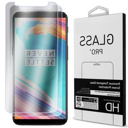 2 Pack of CoverON for OnePlus 5T Tempered Glass Clear Screen