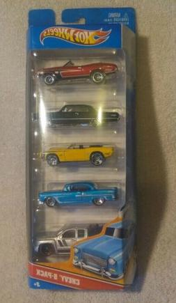 Hot Wheels 2010 Chevy 5-Pack Chevelle, Impala, Camaro, '55 C