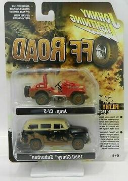 2019 Johnny Lightning 2-PACK *OFF ROAD* Jeep CJ-5 & 1950 Che