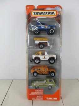 2019 MATCHBOX 5-PACK MBX WILD,W/ 68 MUSTANG 4X4,BRONCO,DODGE