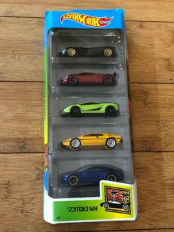 Hot Wheels 2019 HW EXOTICS 5 Pack  Pagani, Lamborghini Sesto