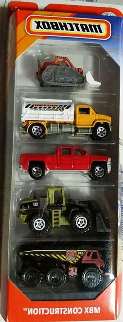 2019 Matchbox MBX Construction 5-Pack includes '14 Chevy® S