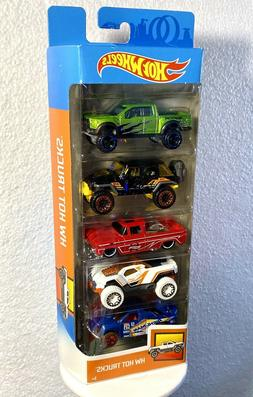 2020 Hot Wheels Hot Trucks 5 Pack Ford Raptor Jeep Wrangler