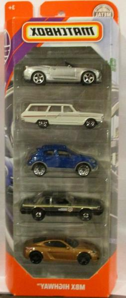 2020 MATCHBOX MBX HIGHWAY 5 PACK-CAMARO,FAIRLANE,FIAT,MUSTAN