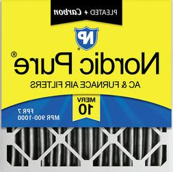 Nordic Pure 20x20x4  Furnace Air Filters MERV 10 Pleated + C