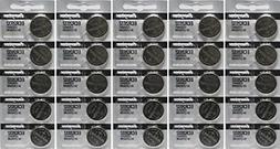 25 Energizer 2032 Battery CR2032 Lithium 3v 5 Packs of 5
