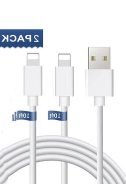 2Pack 10ft USB Cable For OEM Original Apple iPhone5 6 7 8Plu
