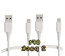 2Pack 6FT USB Cable For OEM Original Apple iPhone5 6 7 8Plus