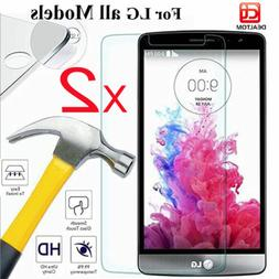2Pack 9H+ Premium Tempered Glass Film Screen Protector For L