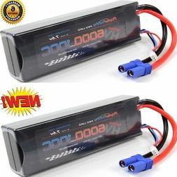 Powerhobby 2S 7.6V HV 6000mAh 100C Lipo Battery Pack w EC5 P