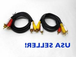 2X 3 ft. Premium Gold Plated RCA AV Audio Video Cable for VC
