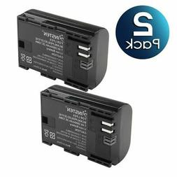 2x lp e6 battery pack for canon