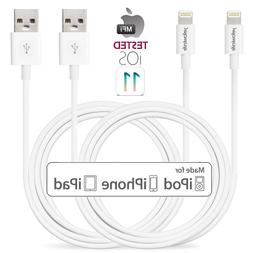 3 6 10 FT Apple MFI Certified Lightning Cable Charger for iP