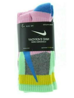 3-in-a-PACK Nike Everyday Cushioned Crew Socks 3Y-5Y S Youth