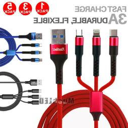 3 in1 multi charger cable cord lighting