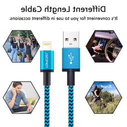 3 pack fast charging lighting usb cable