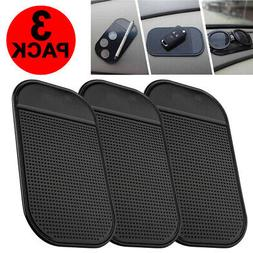 3-Pack Non Slip Car Sticky Mat Pad Holder Dash Mount For GPS
