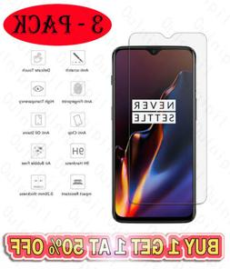 3 Pack Tempered Glass Screen Protector For OnePlus 6T Alcate
