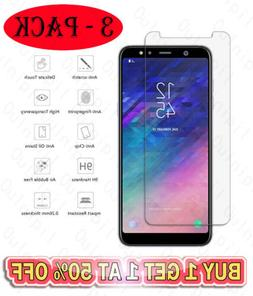 3-Pack Tempered Glass Screen Protector For Samsung  A50 J7 A