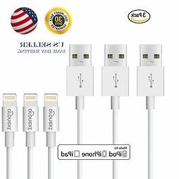 3 Pack Cable For Original OEM Apple iPhone 5 6 7 8 Plus X 11