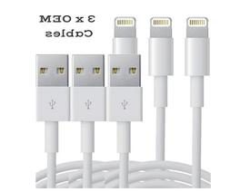 3-PACK USB Data Charging Charger Cables Cords For Apple iPho